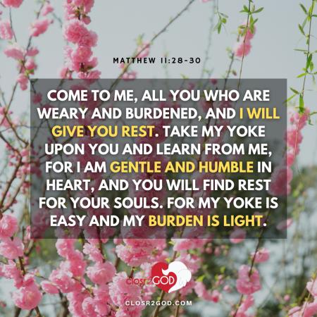 Matthew 11 28 30